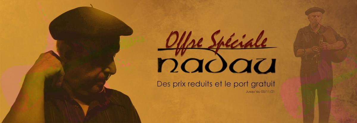 Bénéficiez de prix réduits et du port gratuit sur toute la collection Nadau !